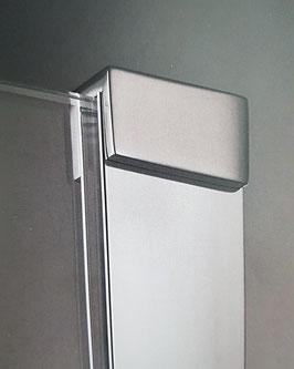 U-Profil mit Klemmstück oben für Glas-Trennwände zum Einschieben mit Silikonverklebung; Art.Nr. 040140K