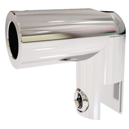 Glashalter für Stabistangenrohr 12,5 mm, Messing glanzverchromt, 90°, Art.Nr. 0960