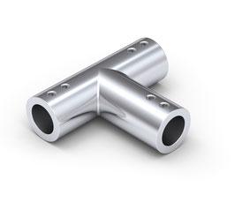 T-Verbinder für Stabistange, rund, ø12 mm, Messing glanzverchromt, 90°, Art.Nr. BO5420069