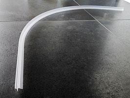 gebogene Dusch-Türdichtung für Viertelkreisduschen mit kurzer Abtropfleiste, für 6 und 8 mm universal, Art.Nr. 5102.550
