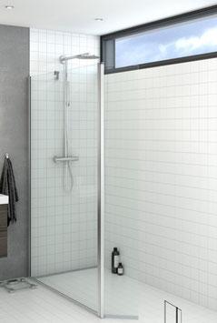 Duschabtrennung als Seitenwand mit Drehteil (2-scheibig), pendelnd, Größe 120 cm, Typ Dani