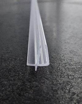Dusch-Türdichtung Typ Diana für 4 u. 5 mm Glasstärke mit kurzer Abtropfleiste und kurzer Lippe nach unten, 100 cm - 4269