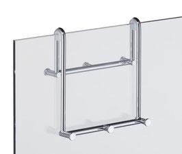Hakenleiste Family-Haken, für Glasdusche zum Einhängen an Glaskante