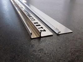 """Fliesen-U-Winkelprofil """"Slimline""""  mit 2-tlg. Gefällekeil für feststehende Glasabtrennung; Typ ST-GPDU, Edelstahl poliert; Art.Nr.: GPDU-3D"""
