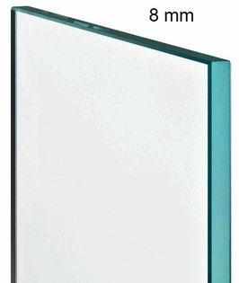 ESG Einscheiben Sicherheitsglas für Duschtrennwand; Klarglas; Dicke 8 mm