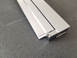 drehbares Duschtür-Wandprofil für 6 oder 8 mm Glasdicke, Serie NLO60-eckig