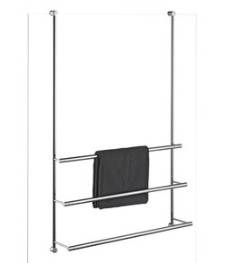 Badetuchhalter Server, 3-fach übereinander, für Glasdusche zur Befestigung an Glaskante