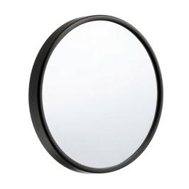 Kosmetikspiegel mit Saugnapf. Vergrößerung 12-fach. Schwarz oder Silber. Durchmesser 90 oder 130 mm.  Art.Nr. FB622/621