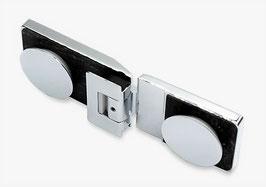Serie Eido S40, Pendelscharnier Glas-Glas 180° (90° nach innen u. 90° nach außen öffnend), Art.Nr. 403002
