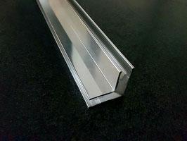 Alu-U-Eckprofil 90° für 8 mm Glas zur innenseitigen Silikonverklebung, 2000 mm, Art.Nr. 74132