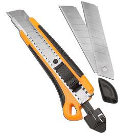 Cuttermesser, 18 mm, mit 3 Klingen; für den Zuschnitt von Duschdichtungsprofilen, Art.Nr. 745118