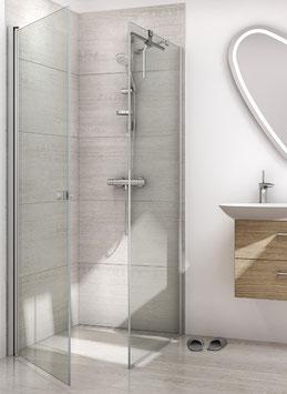 Duschabtrennung mit Drehtür und Seitenwand (2-scheibig), pendelnd, Größe 90 x 90 oder 100 x 100 cm, Typ Dani