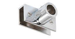 U-Glashalter 90° für Stabistange 19 mm, klemmbar für 6 bis 12 mm Glas,  Art.Nr. S13