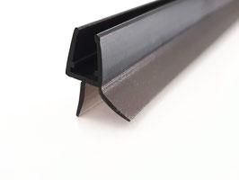 schwarze Dusch-Türdichtung mit 12 mm Lippe nach unten und kurzer Abtropfleiste, für 6 und 8 mm universal, Art.Nr. 5102-B