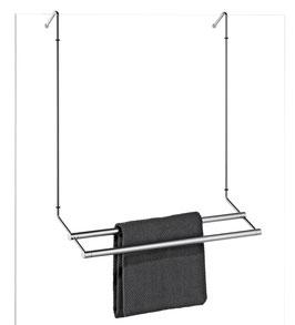 Badetuchhalter Server, 2-fach hintereinander, für Glasdusche zur Befestigung an Glaskante