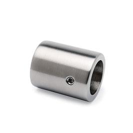 V2A Wandflansch für 19 mm Stabistange, Rohrhülse (90°), Art.Nr. 516