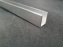 Alu-U-Profil für 6 - 8 mm Glas zur innenseitigen Silikonverklebung, Höhe 20 mm, Art.Nr. BO67034.6