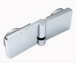 Serie Eido S40, Scharnier Glas-Glas 180° mit Hebe-Senk Mechanismus  DIN rechts außen öffnend, Art.Nr. 402006