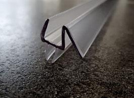 Dusch-Türdichtung mit doppelter Dichtlippe unten und Abtropfleiste aus hartem Kunststoff, 100 cm - KTD 72, Art.Nr. 956/914
