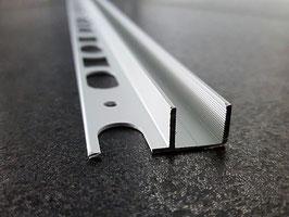 Fliesen-U-Winkelprofil für feststehende Glasabtrennung; Aluminium silber matt eloxiert; Typ PP-TGU12, Art.Nr. 67760