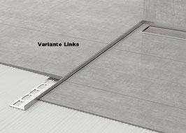 Fliesen-Winkelprofil 2-tlg. mit Gefällekeil; Edelstahl gebürstet; Typ GPS8