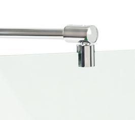 Stabilisierungsstange Set Glas-Wand, Winkel universal einstellbar, rund, 12x12 mm, Messing glanzverchromt,  Länge: 1210 mm Art.Nr. BO5420065