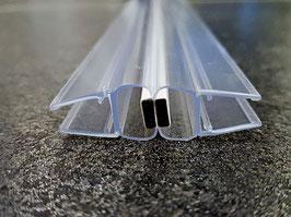 Ergänzung zu Trägerprofil: Tür-Magnetdichtung 180° (1 Paar), für 6 und 8 mm universal, Art.Nr. 6092