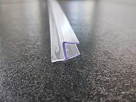 Tür-Anschlagdichtung Glas-Glas 180° für geringes Spaltmaß - PCC8
