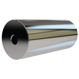 Wandhalter für Stabistangenrohr 12,5 mm, Messing glanzverchromt, Art.Nr. 0970