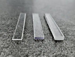 transparente Unterlagen für rahmenlose Glasduschen; für Glaseinschub in U-Profile