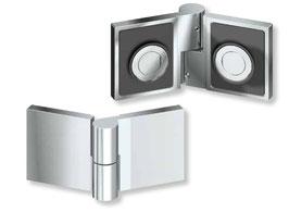 Serie SM-Kim, Duschtürband Glas-Glas 135° mit Hebe-Senk-Mechanismus, Typ SM-Kim