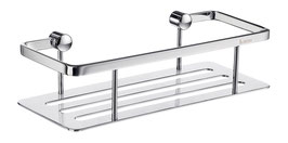Design Duschkorb mit geschlitzter Bodenplatte (leicht zu reinigen), Chrom glanz,  Art.Nr. DK3001