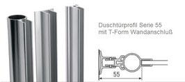 drehbares Duschtür-Wandprofil für 6 oder 8 mm Glasdicke, Serie CR-55