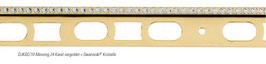 """Fliesen Designprofil vergoldet """"C-Design"""" mit Swarovski®-Kristalle; 1-reihig"""