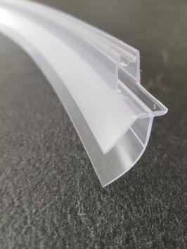 gebogene Dusch-Türdichtung für Viertelkreisduschen mit extra langer Dichtleiste - für 6 mm Glasdicke, Art.Nr. 1600532