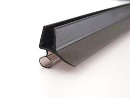 schwarze Dusch-Türdichtung mit Schlauch und Abtropfleiste, 100 cm, für 6 und 8 mm universal, Art.Nr. 5141-B