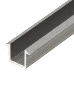 Aluminium U-Profile mit Abtropfkante, 249 cm, für 8 oder 10 mm Glas, Art.Nr. SDCF12
