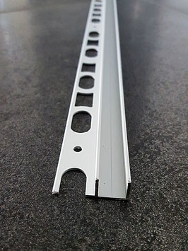 Fliesen-U-Winkelprofil für feststehende Glasabtrennung; Aluminium silber matt eloxiert; Typ PP-TGU14, Art.Nr. 67762