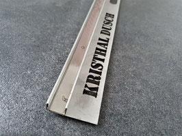 Kristhal Edelstahl Fliesen-U-Winkelprofil für Glasaufnahme mit Schenkel als Fliesenunterlage; für feststehende Glasabtrennung der Dicke 10 mm; gebürstet, poliert oder unbehandelt; Art.Nr. IST9293.10
