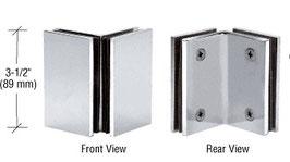 Serie Geneva, Halter für Glas-Glas 90°-Winkel, eckige Ausführung