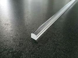 Plexi-Quadratstab mit Wölbung oben, als Schwallprofil verwendbar, Länge: 100 cm - Art.Nr. HH1009