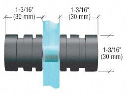 Dusch-Türknopf, 30 mm runde Form mit Rippung, Typ SDK106