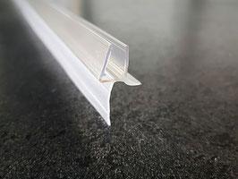 Dusch-Türdichtung mit kürzbarer Lippe und Abtropfleiste, 100 cm, für 6 und 8 mm universal, Art.Nr. 5104