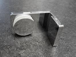 Serie Diamant 40, Wandwinkel (Festteil an Wand) mit Befestigungslasche nach innen, Art.Nr. 390600