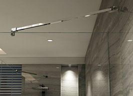 Stabistange-Set für Glasdusche, quadratisch, Glas-Wand flexibel einstellbar, 12 mm Rohr, Länge: 1200 mm, Art.Nr. SQ1212SET