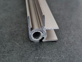 Alu-H-Verbindungs-Eckprofil flexibel 90° bis 140° in Edelstahloptik für 8 mm Glas zur innenseitigen Silikonverklebung, 2000 oder 2200 mm, Art.Nr. ECOF.90/140