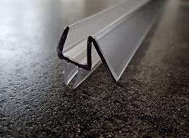 Dusch-Türdichtung mit doppelter Dichtlippe unten und Abtropfleiste aus hartem Kunststoff - KTD 72, Art.Nr. 956/914