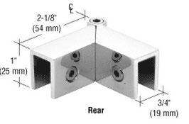 Klemmwinkel als Glas-Glas Halter Gradzahl flexibel einstellbar, für feststehende Scheiben zur Stabilisierung im Winkel, ohne Glasbohrung