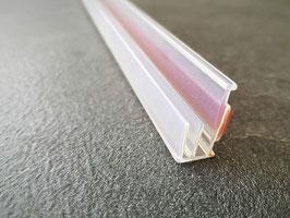 Trägerprofil aus Kunststoff zum Aufstecken einer Duschtürdichtung, selbstklebend, Länge: 2000 oder 2490 mm