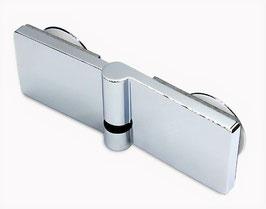 Serie Eido S40, Scharnier Glas-Glas 180° mit Hebe-Senk Mechanismus  DIN links außen öffnend, Art.Nr. 402003